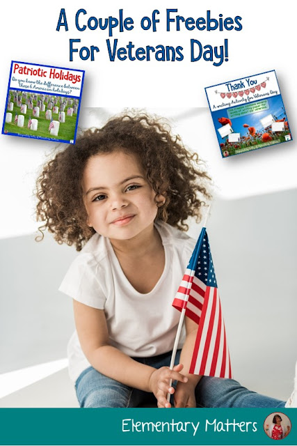 A Couple of Freebies for Veterans Day! You'll find a writing paper freebie as well as a freebie to help children keep track of the different patriotic holidays!