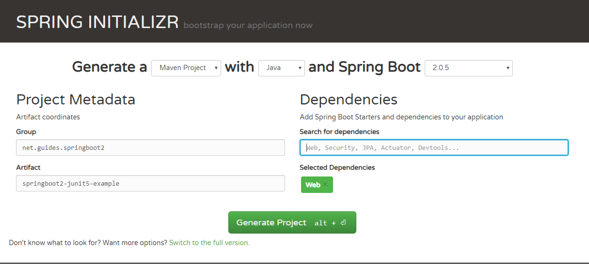 Spring Boot 2 with JUnit 5 Testing Example