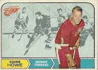 gordie howe detroit red wings 1968-69 opc hockey card