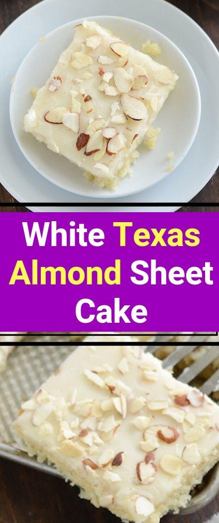 White Texas Almond Sheet Cake Recipe