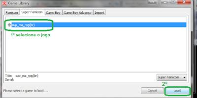 Snes: bSnes (Higan) selecionar o jogo para iniciar