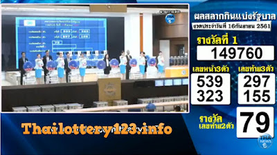 Thai Lottery 16 September 2018 Live Result in English Online Update