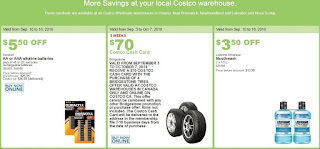 Costco Flyer Great Savings September 10 – 16, 2018 ~ Monday - Sunday