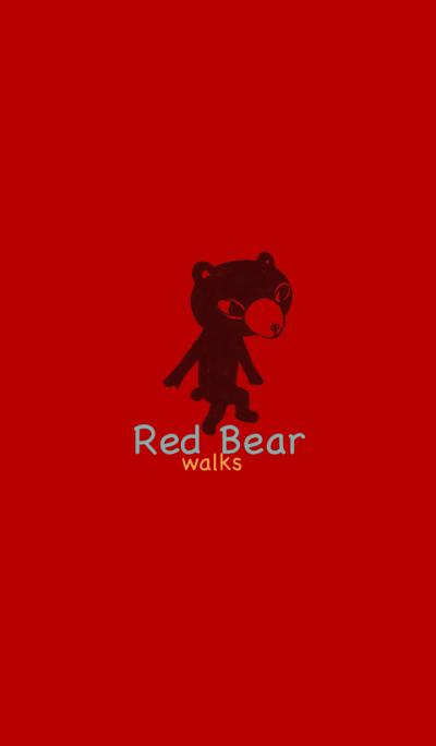 Red Bear walking