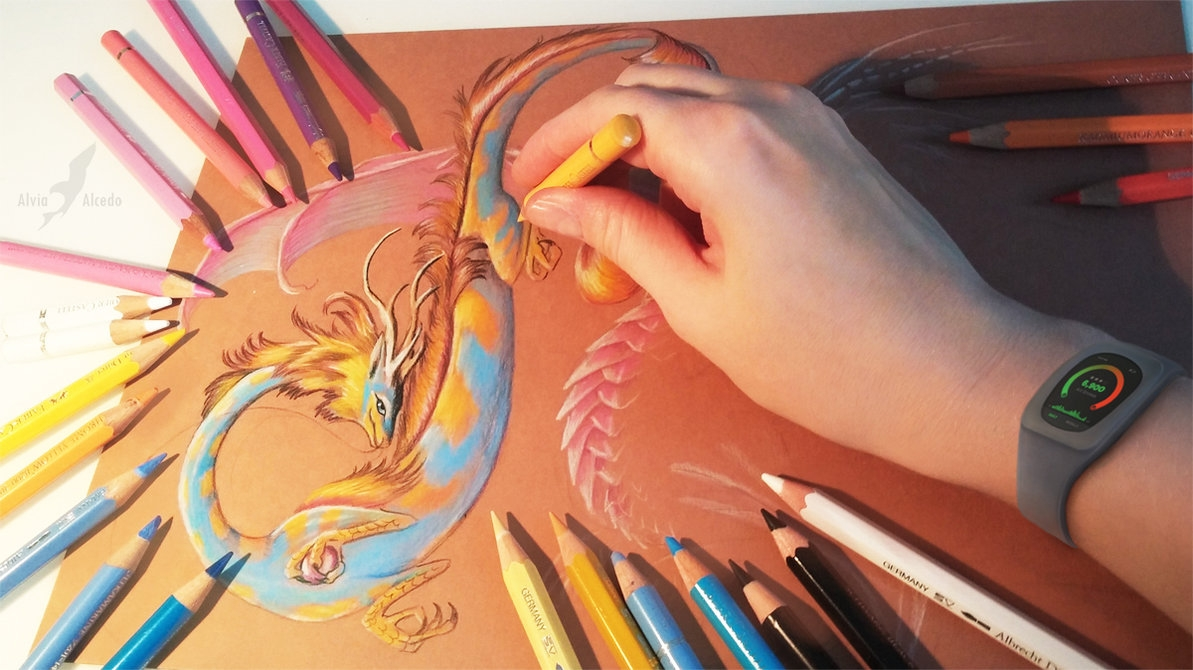 08-Dragons-flight-Alvia-Alcedo-Dragon-and-other-Mythical-Fantasy-Drawings-www-designstack-co