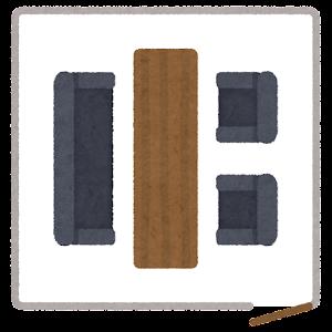 会議室の席のイラスト4(席次)