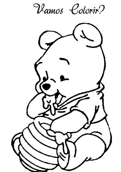 Bau Da Web Ursinho Pooh Baby Desenhos Para Colorir