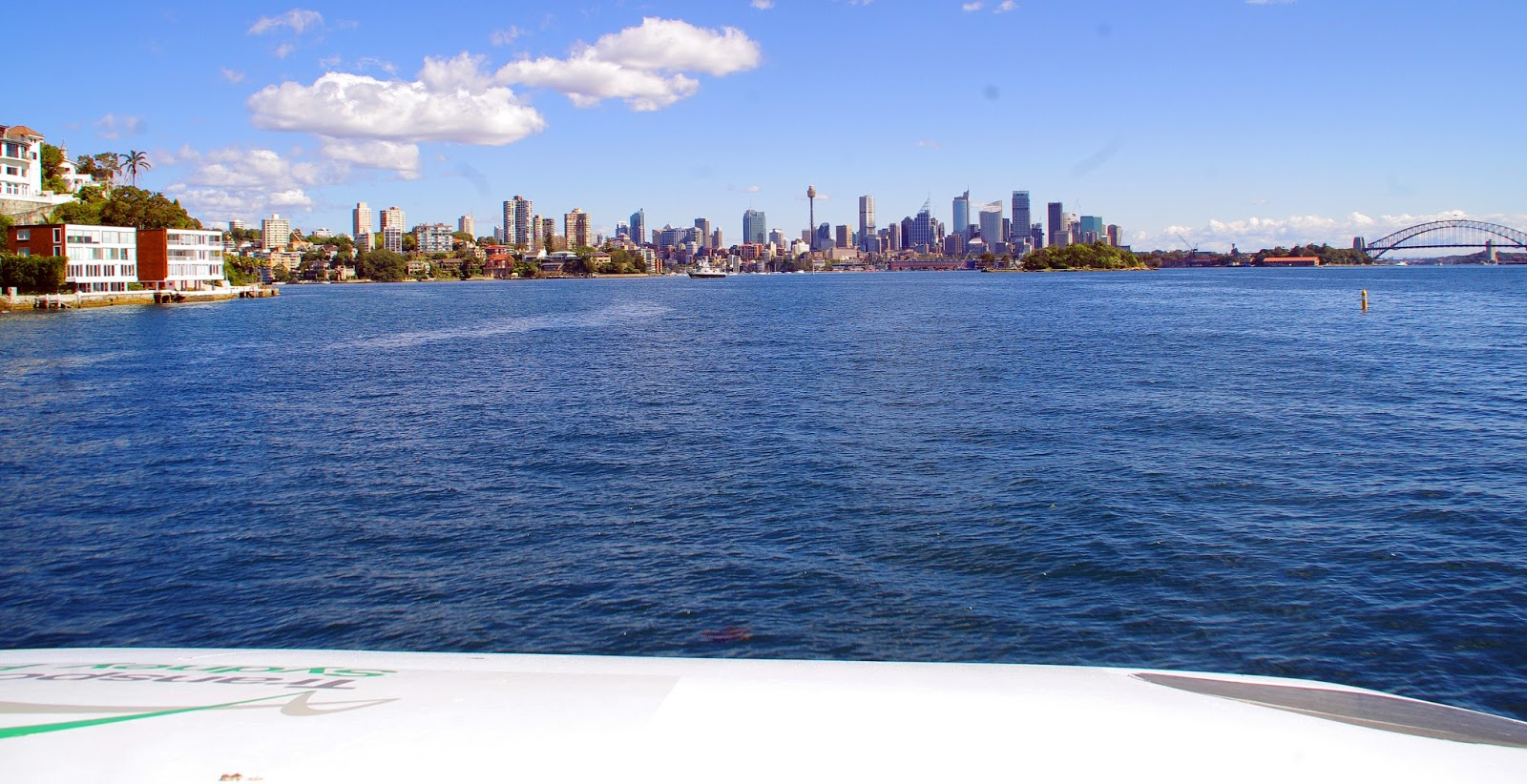 View of Sydney harbour from the ferry