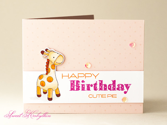 Baby BD Card with Cute & Cuddly from Clearly Besotted by Sweet Kobylkin