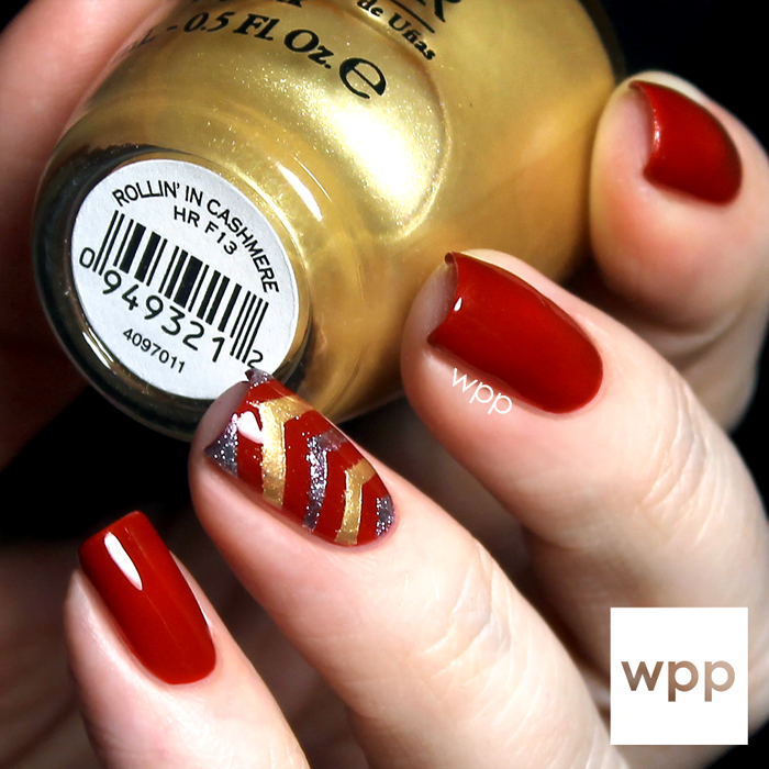 OPI Gwen Stefani Holiday 2014 Chevron Nail Art