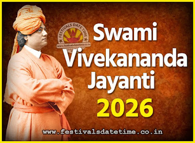 2026 Swami Vivekananda Jayanti Date & Time, 2026 National Youth Day Calendar