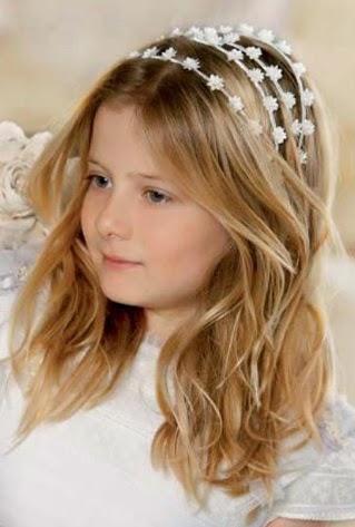 Peinados para ninas primera comunion 2014