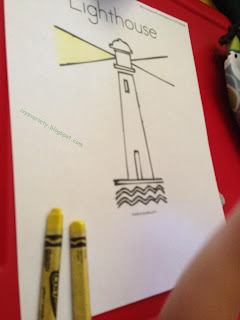 lighthouse coloring activity