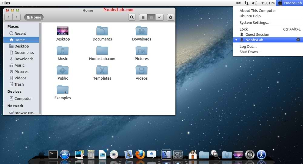 Mac OS X Theme for Ubuntu 13 04 Raring Ringtail/12 10/12 04