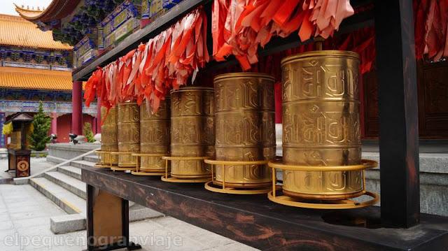 Templo, dali, 3 pagodas, complejo