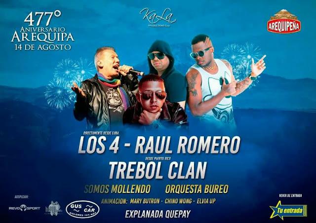 Serenata con los 4 de Cuba, Trebol clan, Raúl Romero y muchos más - 14 de agosto