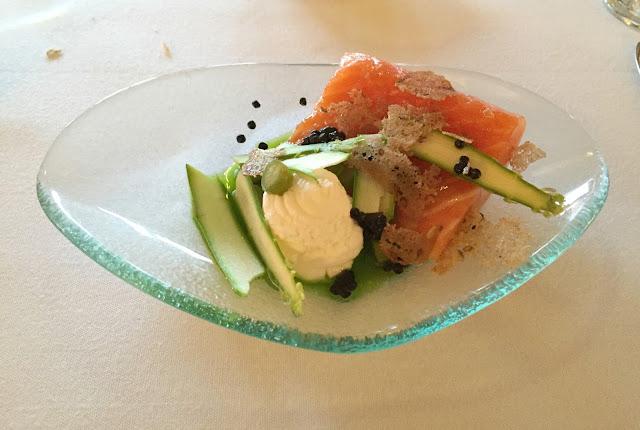 Salmon Starter at Ox Pasture Hall Hotel