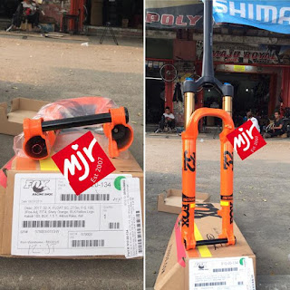 Fork 27.5 inch Fox Float 32 Travel 100 SC Orange 3pos Adj Fit4 Taper Ta15 Kabolt 2017