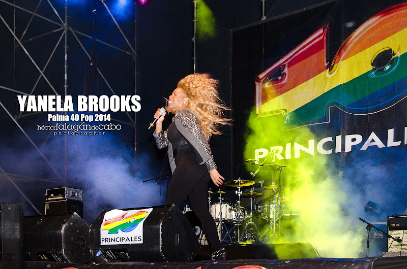 Yanela Brooks en el Palma 40 Pop 2014. Héctor Falagán De Cabo | hfilms & photography.