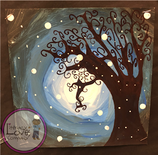 Classroom art for kids. Snowy Trees - Beautiful winter art projects for the elementary classroom brought to you by Literacy Loves Company.