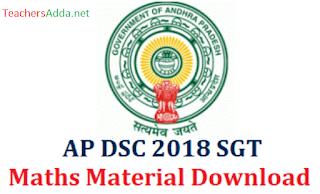 AP DSC SGT Maths Study Material Download