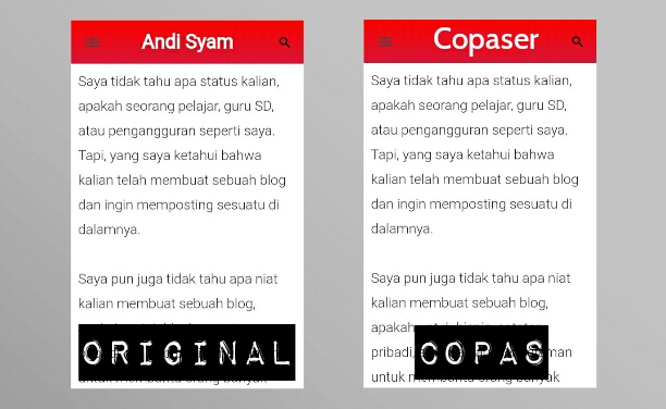 copy paste plagiat plagiarism konten blog