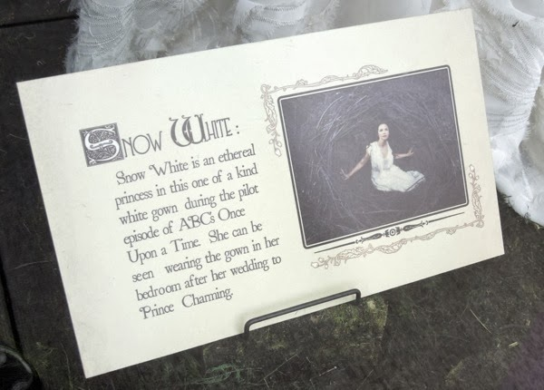 Once Upon Time Snow White gown display