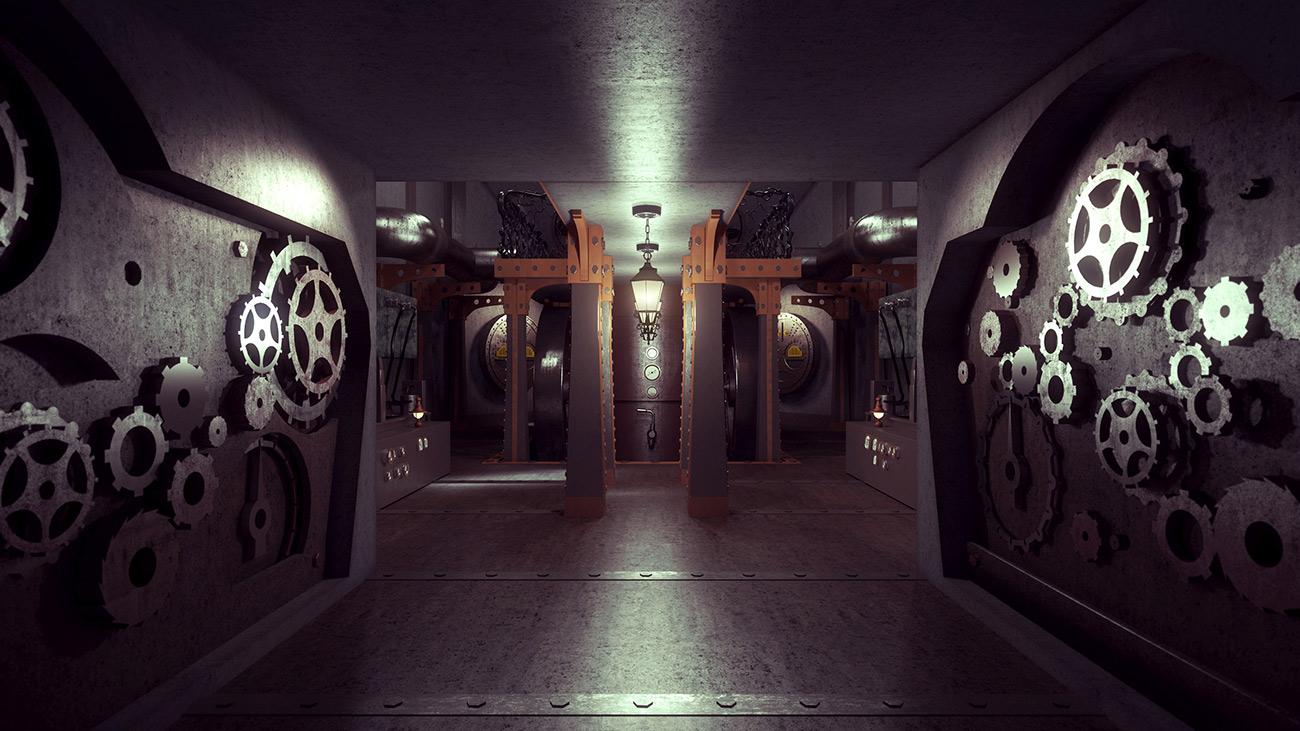 Steampunk Spaceship Home Interior Dreams