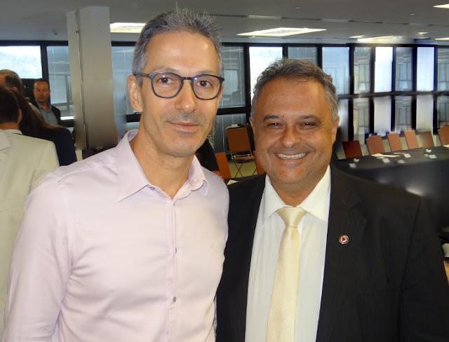 Governador Romeu Zema e Gustavo Mitre - Fotos: Assessoria do Deputado Gustavo Mitre