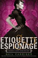 Etiquette & Espionage by Gail Carriger book review and cover