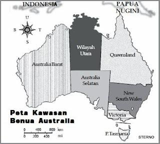letak geografis australia dan pembagian wilayah teritorial