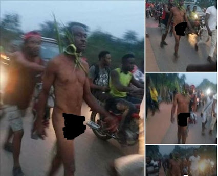 Man Paraded Naked For Using Charms On People... killed a man just to sleep with his wife