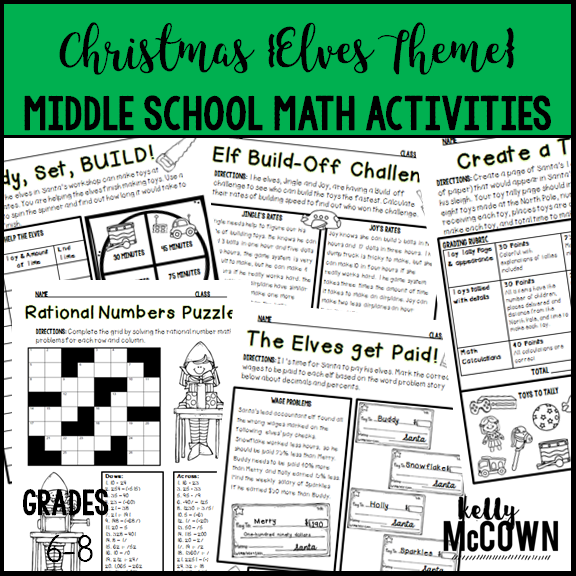 kelly mccown christmas middle school math activities. Black Bedroom Furniture Sets. Home Design Ideas