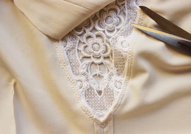 ideas DIY para personalizar una prenda con encaje