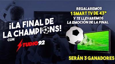 """[Sorteo] Participa y gana un Smart TV de 43"""" - La Champions con Studio 92"""