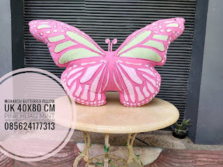 Pink Monarch Butterfly Pillow