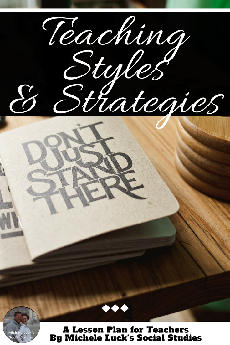 Teaching Styles And Strategies Change It Up A Lesson Plan For
