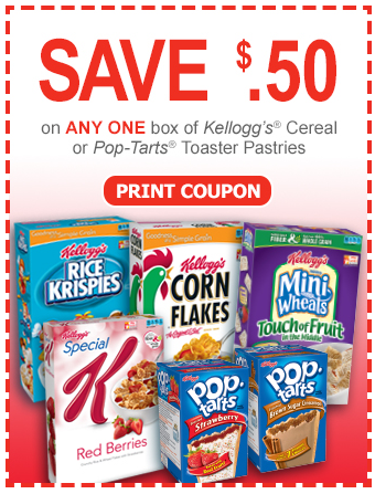 We found all of the Pop-Tarts coupons available online and put them all on this page so it's super easy to find and print the coupons you want! $ off Save $ when you spend $ on any Kellogg's® Cereals or Pop-Tarts® toaster pastries.