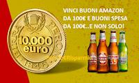 Logo Vivi Peroni Vinci Passioni: in palio 86 buoni Amazon, 117 buoni spesa da 100€ e 1 da 10.000€!