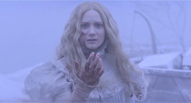 der cineast Filmblog Crimson Peak Mia Wasikowska blutverschmiert im Schnee