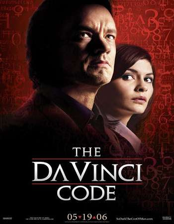 Poster Of The Da Vinci Code In Dual Audio Hindi English 300MB Compressed Small Size Pc Movie Free Download Only At worldfree4u.com