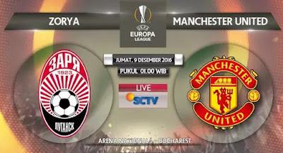 Zorya Luhansk vs Manchester United Disiarkan Langsung SCTV