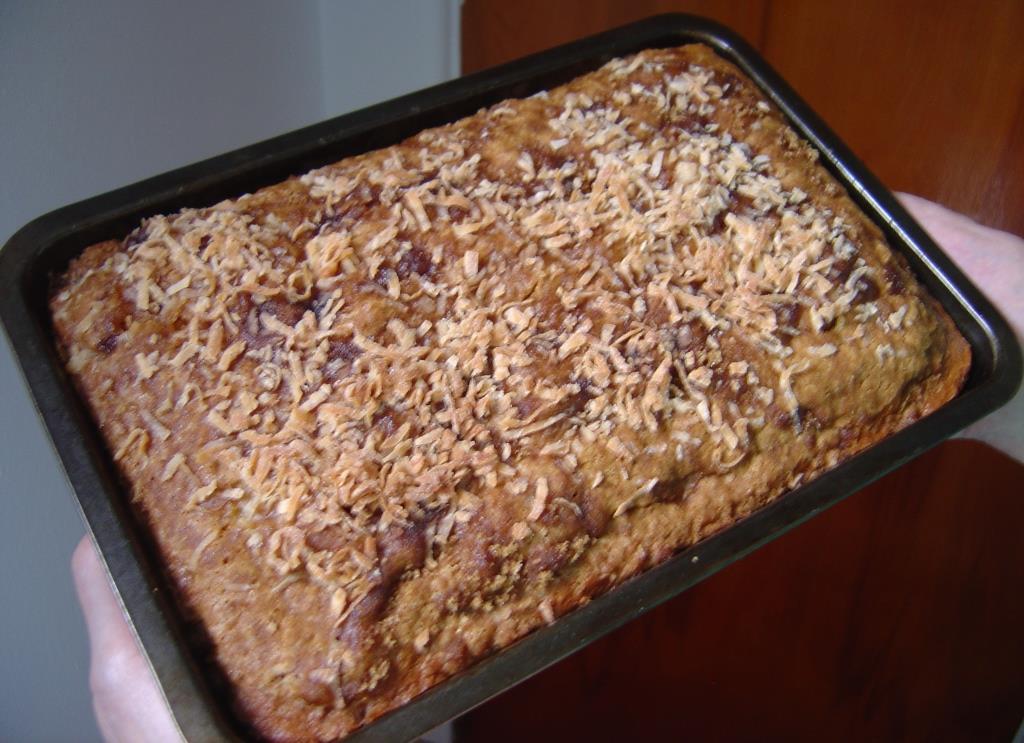 Pineapple Yum Yum Cake  Uncut in the Pan Image