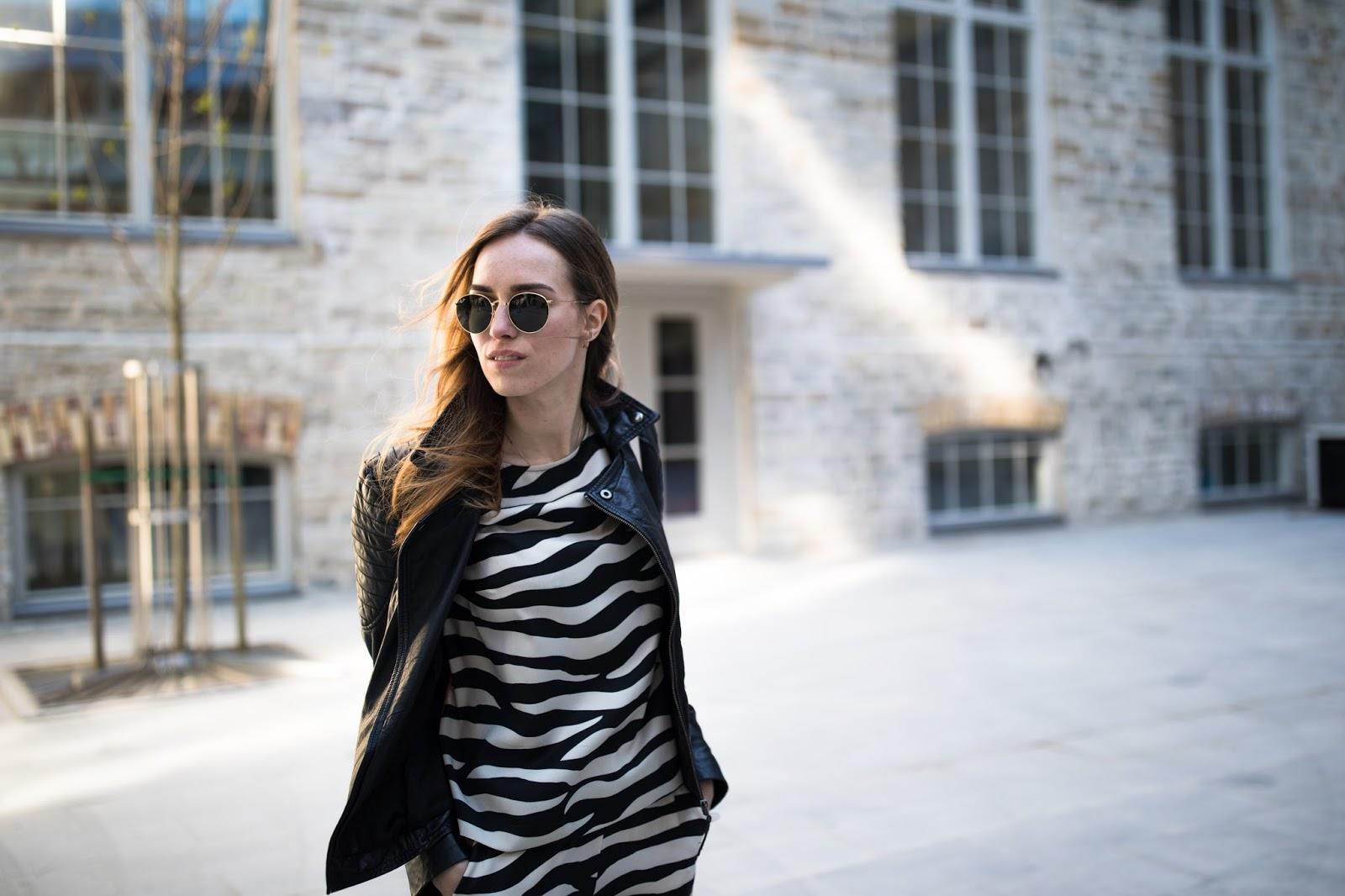 zebra print satin pyjama