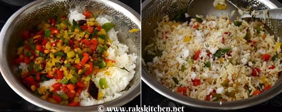 how to make capsicum rice 3