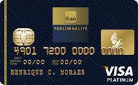solicitar cartão personalite visa itaú