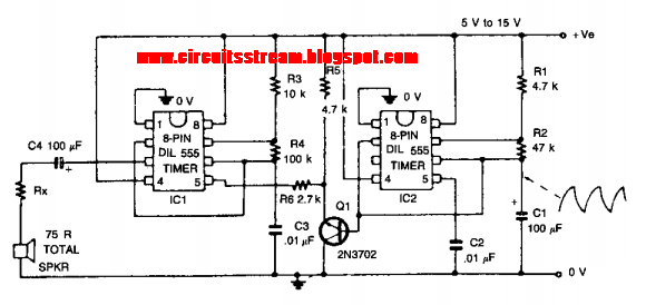 Build a Wailing Alarm Circuit Diagram