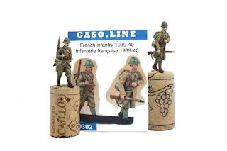 Figurine de l'Infanterie Française 1940  Gaso.line au 1/48.