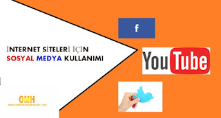internet sitesi için sosyal medya kullanımı