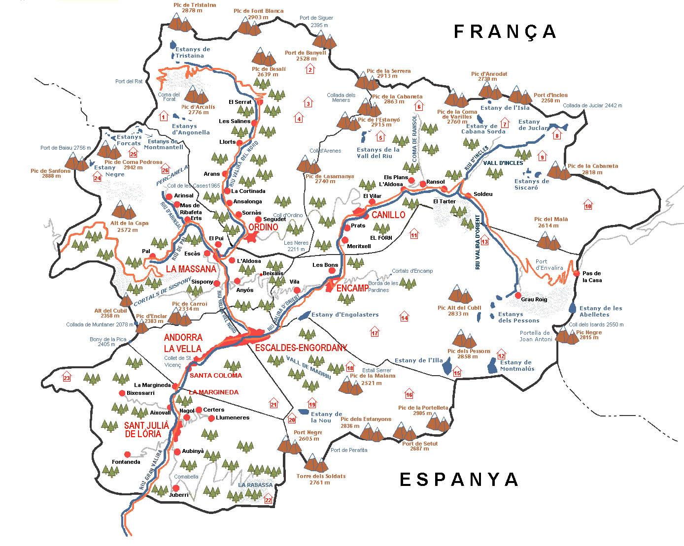 aeroportos em espanha mapa Mapas da cidade de Andorra | MapasBlog aeroportos em espanha mapa